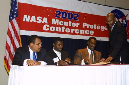 NASA Mentor-Protege Signing Ceremony